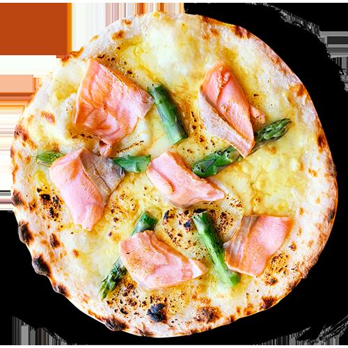 ノルウェーサーモンのピザ